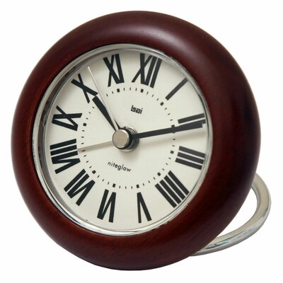 Bai Design Roma Rondo Wooden Travel Alarm Clock