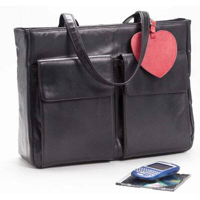 Laptop Tote with Removable Sleeve in Black