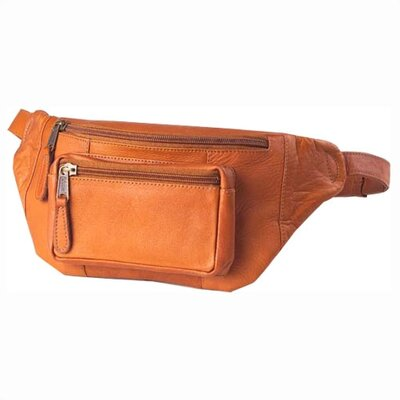 Clava Leather Vachetta Kangaroo Pouch Hip Pack in Tan