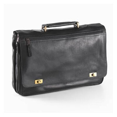 Vachetta Turn Lock Briefcase in Black