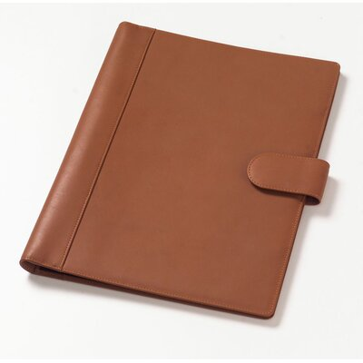 Clava Leather Soft-Sided Padfolio in Tan