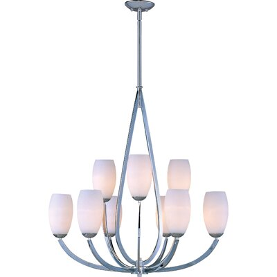 Rain Drop 9 Light Chandelier