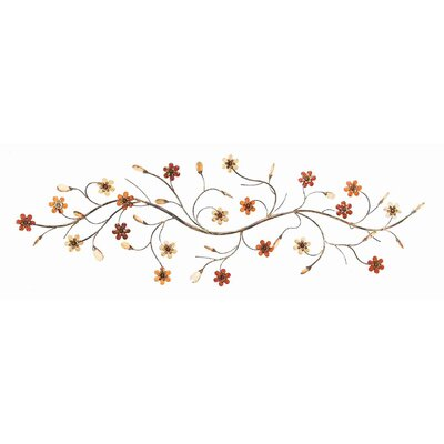 Toscana Flower Loaded Twig Metal Wall Décor