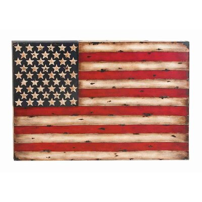 UMA Enterprises Toscana American Flag Replica Metal Wall Décor