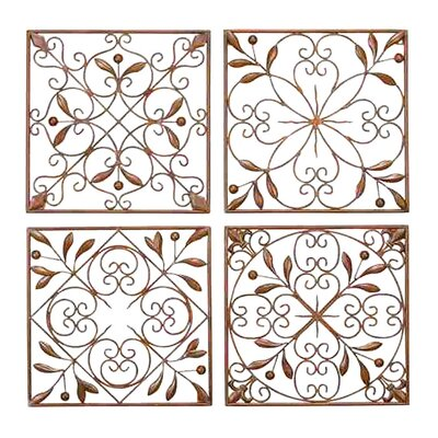 UMA Enterprises Toscana Metal Wall Décor (Set of 4)
