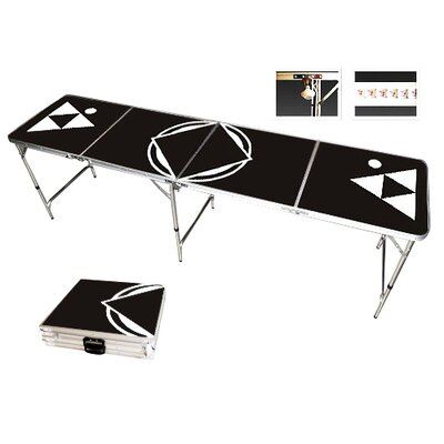 Red Cup Pong Black Beer Pong Table in Standard Aluminum