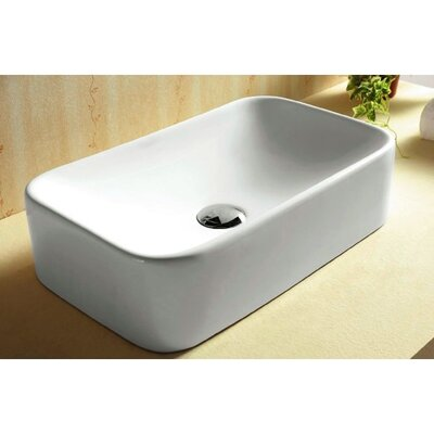 Ceramica Rectangular Vessel Bathroom Sink - Caracalla CA4120