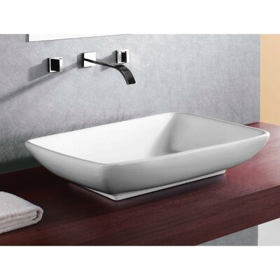 Caracalla Ceramica Rectangular Bathroom Sink