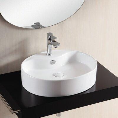 Ceramica ii bathroom sink with flat basin wayfair for Flat bathroom sinks