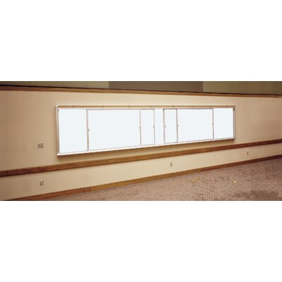Claridge Products Two-Track Horizontal Sliding Markerboard Unit 4'H x 14'W