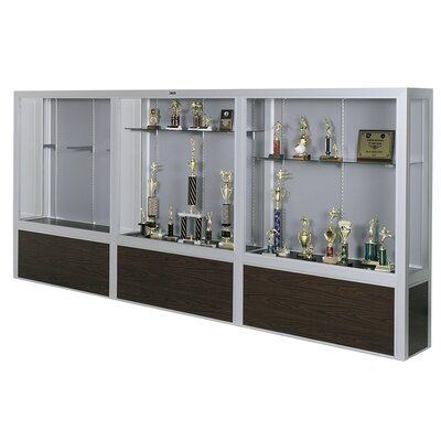 Claridge Products Premiere Freestanding Display Case with Wood Floor Base