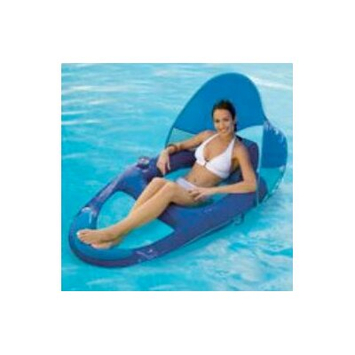 Swimways Spring Recliner With Canopy Pool Lounger