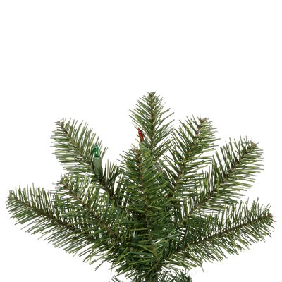 "Vickerman Co. Salem Pencil Pine 6' 6"" Green Artificial Christmas Tree with 165 Multicolored LED Lights with Stand"