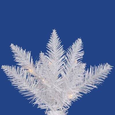 "Vickerman Co. Crystal White Spruce 5' 6"" Artificial Christmas Tree with 270 LED White Lights with Stand"