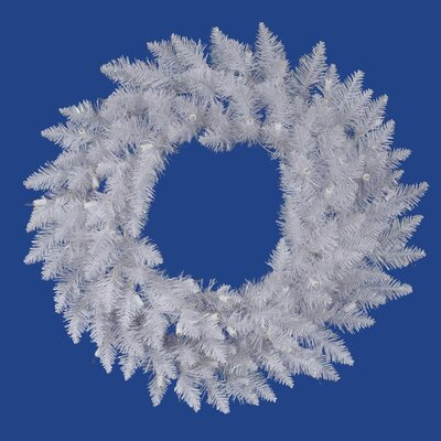 Vickerman Co. Crystal White Spruce 60&quot; Wreath
