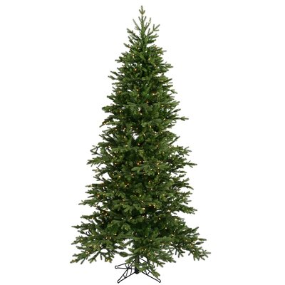 "Vickerman Co. Balsam Fir 7' 6"" Green Artificial Christmas Tree with 550 Clear Lights with Stand"