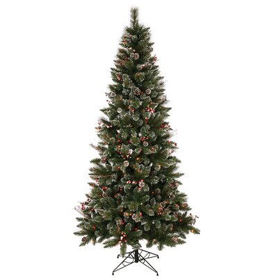 Vickerman Co. 4.5' Snowtip Berry/Vine Artificial Christmas Tree with Multicolored Lights