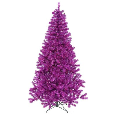 Vickerman Co. 6' Artificial Christmas Tree with 350 Mini Lights in Purple