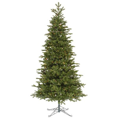 "Vickerman Co. Maine Balsam Fir 8' 6"" Green Artificial Christmas Tree with 700 Multicolored Dura-Lit Mini Lights with Stand"