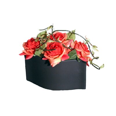 Vickerman Co. Floral Artificial Potted Roses in Red