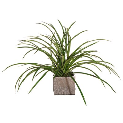 Vickerman Co. Floral Small Artificial Potted Deluxe Grass in Green