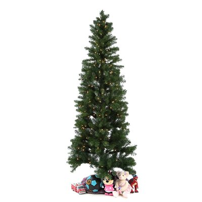 "Vickerman Co. Salem Pencil Pine 7' 6"" Green Artificial Christmas Tree with 350 Clear Lights with Stand"