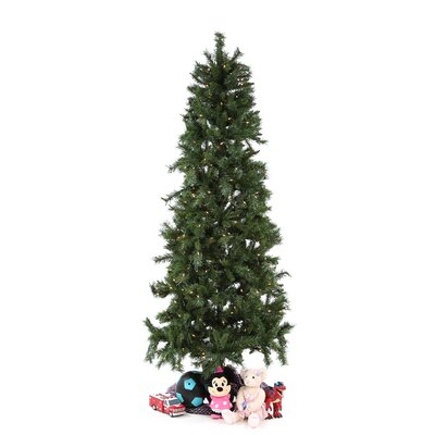 Vickerman Co. 7' Green Newport Mix Pine Artificial Christmas Tree with 350 Clear Mini Lights with Stand