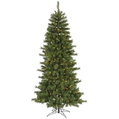 7' Green Newport Mix Pine Artificial Christmas Tree with 350 Multicolored Mini Lights with ...