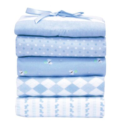 Flannel Receiving Blankets (Set of 5) (Set of 5)