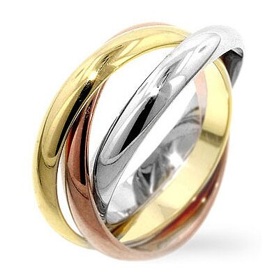 J Goodin Tri-Toned Trinity Ring