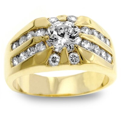 Men's Gold-Tone Cubic Zirconia Ring