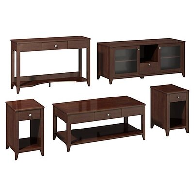 kathy ireland Office by Bush Americana Family Work-N-Play 5 Piece Coffee Table Set