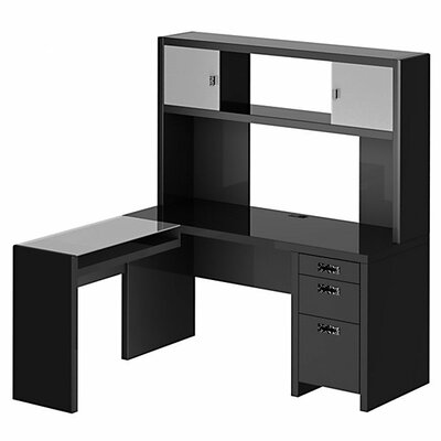 kathy ireland Office by Bush NEW YORK SKYLINE Small Space L-Shape Desk Office Suite