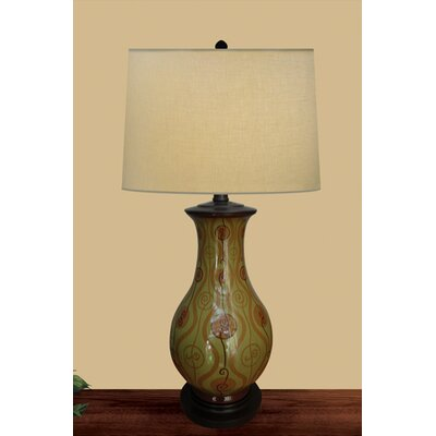 JB Hirsch Home Decor Spring Swirl Table Lamp