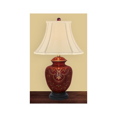 "JB Hirsch Home Decor 22"" Porcelain Sun Burst Heart Accent Lamp"