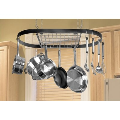 Color Cast Oval Hanging Pot Rack
