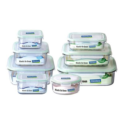 Kinetic Go Green Glasslock Assorted 8-Piece Food Storage Container Set