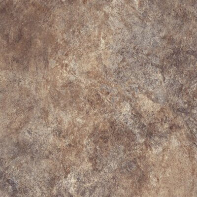 "Congoleum Ovations Textured Slate 14"" x 14"" Vinyl Tile in Brown"