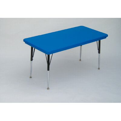 Correll, Inc. Rectangular Plastic Activity Table with Standard Legs