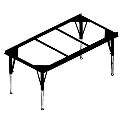 Correll, Inc. Large Rectangular Plastic Activity Table with Short Legs