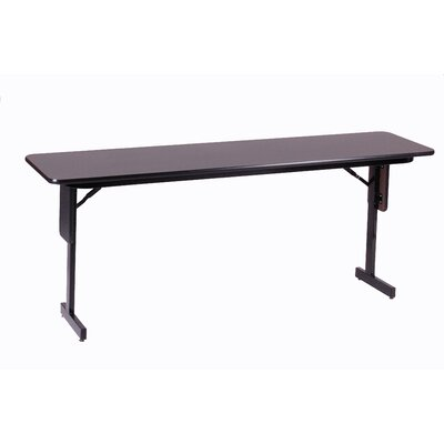 "Correll, Inc. 72"" W x 18"" D Panel Leg Folding Seminar Table"
