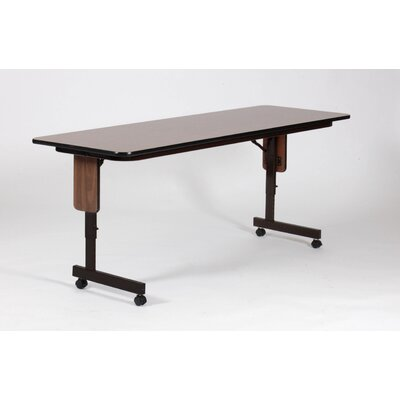 "Correll, Inc. 96"" W x 24"" D Panel Leg Folding Seminar Table with Adjustable Leg"