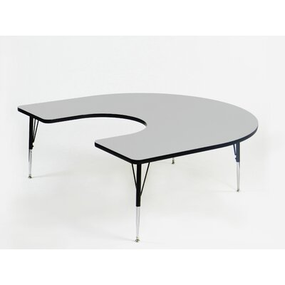Correll, Inc. Econoline Melamine Horseshoe Activity Table