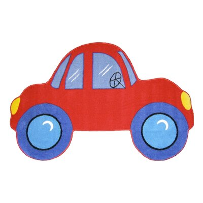 Fun Rugs Fun Shape Medium Pile Car Kids Rug