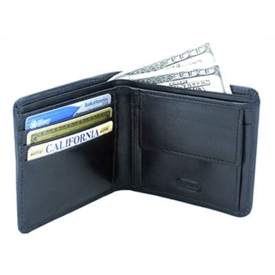 Leatherbay Double Fold Wallet with Pocket