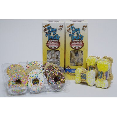 Foppers Dogs Will Go Nuts for Donuts 174 Piece Dog Treat Gift Set