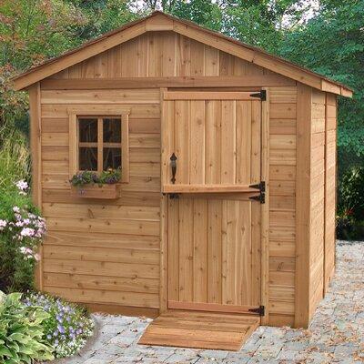 Gardenerft 8 ft w x 8 ft d wood garden shed wayfair for Outdoor living garden shed