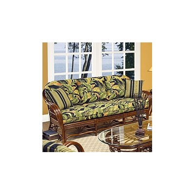 Boca Rattan Amarillo Sofa with Cushions