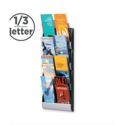 Paperflow 1/3 Letter Maxi System Wall Literature Display Four pockets