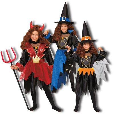 Dress Up America 3-in-1 Devil, Wizard, Witch Children's Costume Set